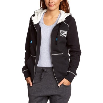 Vêtements Femme Sweats adidas Originals Originals Super Full Zip HD Blanc-Noir