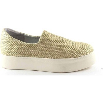 Chaussures Femme Slips on Frau 37Y0 chaussures d'or femmes Slip-on sneakers plateaux tronçon Beige