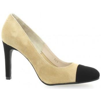 Chaussures Femme Escarpins Vidi Studio Escarpins cuir velours Camel