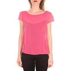 Vêtements Femme T-shirts manches courtes Aggabarti t-shirt voile 121072 fushia Rose