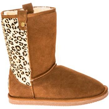 Chaussures Femme Bottes de neige Ilario Ferucci Bottes Taina Camel/Léopard Marron