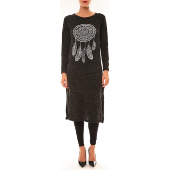 Robes longues By La Vitrine Robe Plume anthracite