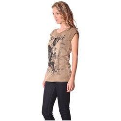 Vêtements Femme T-shirts manches courtes Rich & Royal Tee-shirt Little 13q430 Camel Marron
