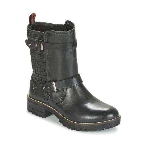 Chaussures Femme Boots Pepe jeans HELEN Noir