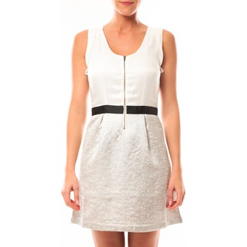 Vêtements Femme Robes courtes Vero Moda Nella S/L Short Dress 10107365 Blanc/Beige Beige