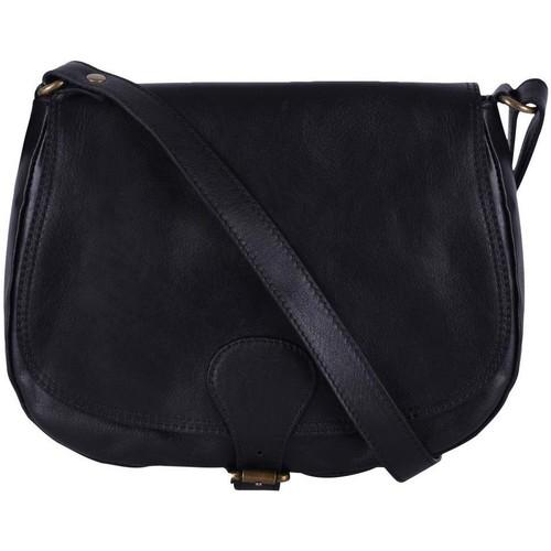 Sacs Femme Sacs porté épaule Oh My Bag Sac à main cuir femme - Modèle Vintage noir NOIR