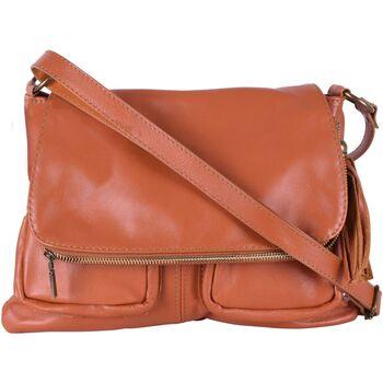 Sacs porté épaule Oh My Bag Sac à Main cuir bandoulière femme - Modèle Avril cognac