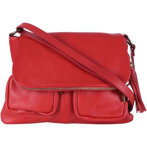 Sacs Femme Sacs Bandoulière Oh My Bag Sac à Main cuir bandoulière femme - Modèle Avril rouge clair ROUGE CLAIR