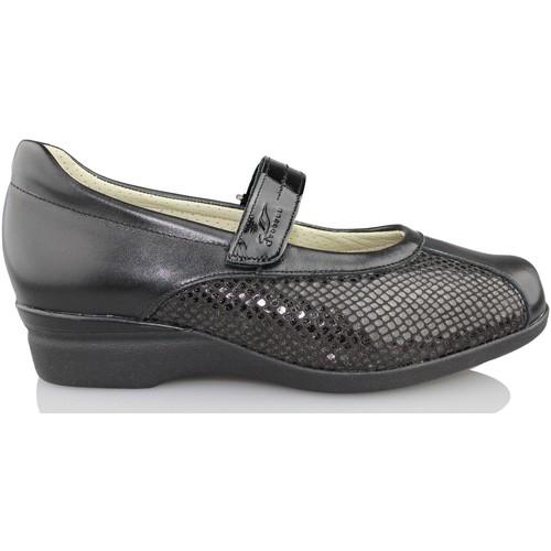 Chaussures Femme Ballerines / babies Dtorres D TORRES danseuse aux pieds très larges NOIR