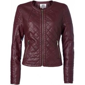 Vêtements Femme Blousons Vero Moda Sanna Short PU Jacket 10113310 Lie de vin Violet