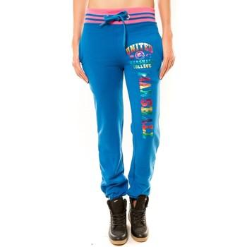 Pantalons de survêtement Sweet Company Jogging United Marshall College Bleu/Rose