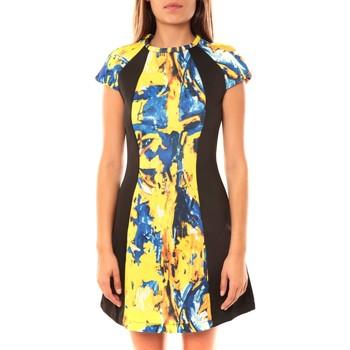 Vêtements Femme Robes courtes De Fil En Aiguille Robe You&You B8086 Jaune/Bleu Multicolor