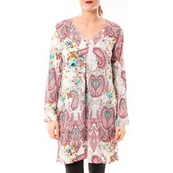 Tuniques Dress Code Robe Moda H G-0080-3 Blanc/Rose