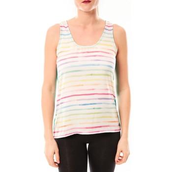 Vêtements Femme Débardeurs / T-shirts sans manche Little Marcel Débardeur Tapali E15FTAN0216 Blanc/Multicolor Multicolor