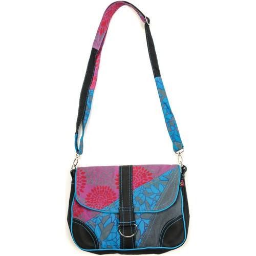 Sacs Femme Pochettes / Sacoches Bamboo's Fashion Petit Sac Besace Prague GN-144 Bleu/Gris Multicolor