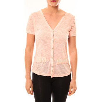 Gilet Meisïe Top 50-608SP15 Corail