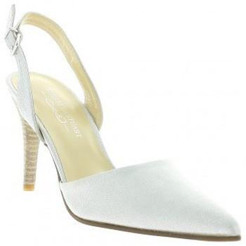 Chaussures Femme Sandales et Nu-pieds Elizabeth Stuart Escarpins cuir laminé Blanc