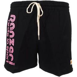 Vêtements Homme Shorts / Bermudas Panzeri Uni a noir fl rse jersey Noir