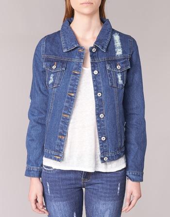 Vestes Espinale Bleu Femme En Jean Vêtements Foncé Yurban K1JlF3cT