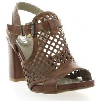 Chaussures Femme Sandales et Nu-pieds Pao Nu pieds cuir Marron