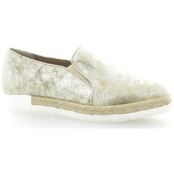 Chaussures Femme Espadrilles Pao Mocassins cuir laminé Doré