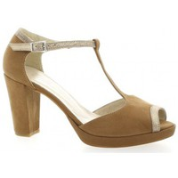 Chaussures Femme Sandales et Nu-pieds Reqin's Escarpins cuir Cognac