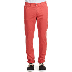 Pantalons 5 poches Heroseven Pantalon Chino  Rouge Homme