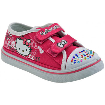 Chaussures Enfant Baskets basses Hello Kitty Velcro Fille strass Baskets basses rose