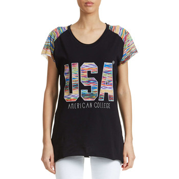 T-shirts manches courtes American College Top  Legendry W Noir Femme