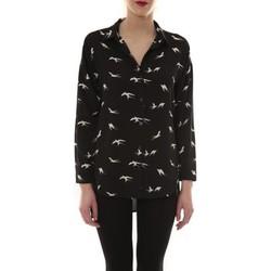 Chemises manches longues Comme Des Garcons Chemise Noir Oiseaux Blanc CH105