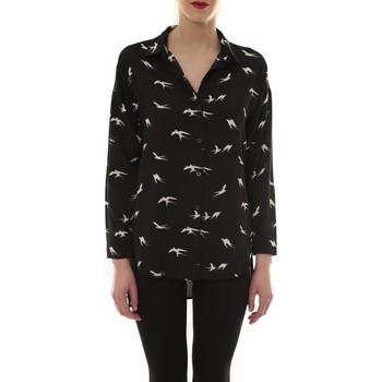 Vêtements Femme Chemises manches longues Comme Des Filles Chemise Noir Oiseaux Blanc CH105 Noir