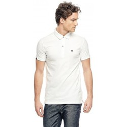Polos manches courtes Guess Polo Stretch Blanc