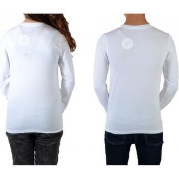 Vêtements Homme T-shirts manches longues Eleven Paris Tee Shirt Bling LS Mixte (Garçon / Fille) Blanc Blanc