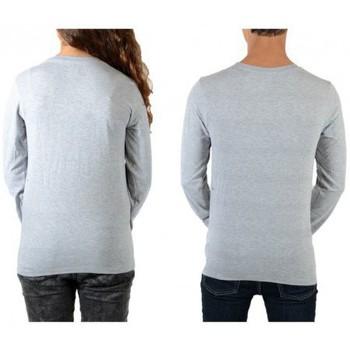 Vêtements Homme T-shirts manches longues Eleven Paris Tee Shirt Reige LS Mixte (Garçon / Fille) Gris Chiné Gris