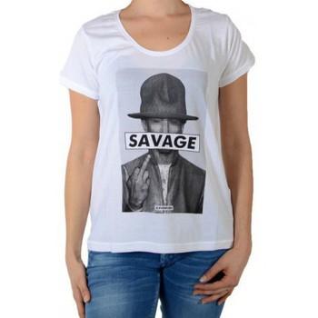 Vêtements Femme T-shirts manches courtes Eleven Paris Savrel W Blanc