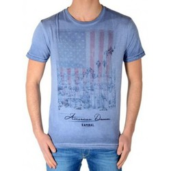 Vêtements Garçon T-shirts manches courtes Kaporal Tee Shirt Kaporal Enfant Crag Bleu Stone Bleu