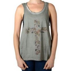 Vêtements Femme Débardeurs / T-shirts sans manche Eleven Paris Debardeur Drape W Deep Dye Wind Gris