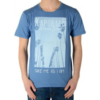 Vêtements Garçon T-shirts manches courtes Kaporal Tee Shirt Kaporal Enfant Calif Stone Bleu