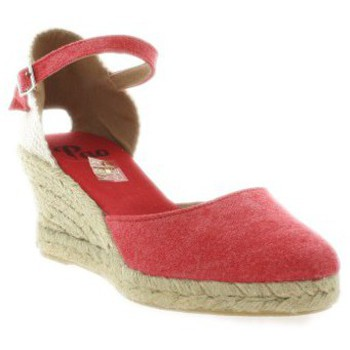 Chaussures Femme Espadrilles Pao Espadrille toile rouge