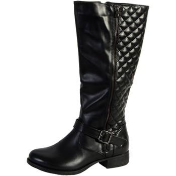 Chaussures Femme Bottes ville The Divine Factory Bottes Noir Noir
