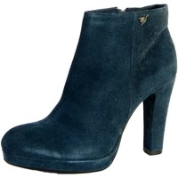Chaussures Femme Bottines The Divine Factory Bottines Bleu Bleu