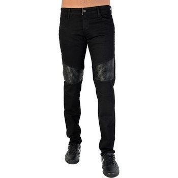 Vêtements Homme Jeans droit Japan Rags Jeans 711 WRES ND Moore Black Noir