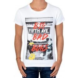 Vêtements Garçon T-shirts manches courtes Eleven Paris Tee Shirt Manches Courtes  Avenue SS Blanc Blanc