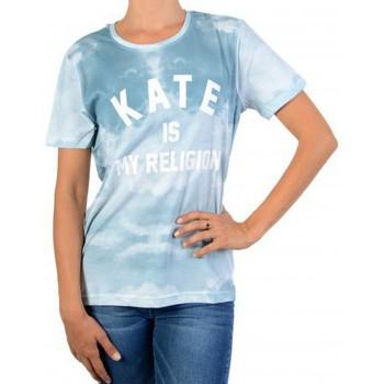 Vêtements Femme T-shirts manches courtes Eleven Paris Fate Wonder Olfate Bleu