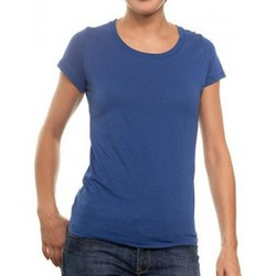 Vêtements Femme T-shirts manches courtes New Outwear T-Shirt  R-Neck Bleu Royal Bleu
