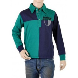Polos manches longues Diesel Polo Enfant  Tomely K569 Bleu / Vert
