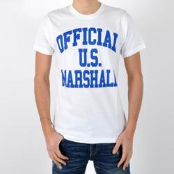Vêtements Homme T-shirts manches courtes U.S Marshall T-Shirt Us Marshall Official / Bleu Bic Blanc