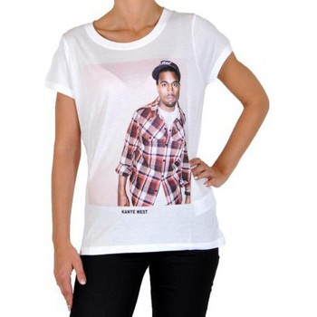 Vêtements Femme T-shirts manches courtes Eleven Paris T-Shirt Kanye West W Ts Blanc Blanc