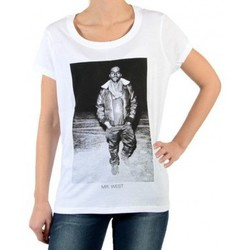 Vêtements Femme T-shirts manches courtes Eleven Paris Tee Shirt Kali W Kanye West Blanc Blanc