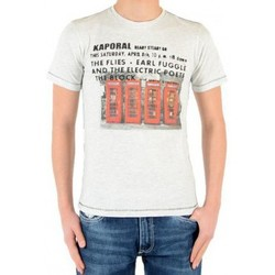 Vêtements Garçon T-shirts manches courtes Kaporal Tee Shirt Kaporal Enfant Thoop Ecru Melanged Beige